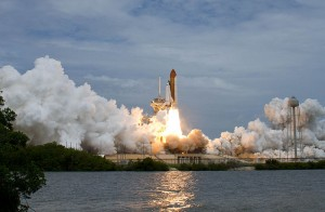 Launch of Atlantis on STS-135, the final space shuttle mission.