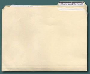 A manila folder.  Duh.